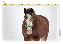 Carry-all Pouch featuring the photograph Equus Caballus.. by Nina Stavlund
