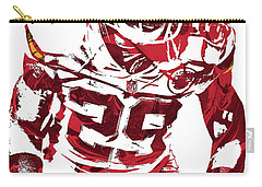 Carry-all Pouch featuring the mixed media Eric Berry Kansas City Chiefs Pixel Art 2 by Joe Hamilton