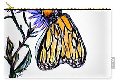 Erika's Butterfly One Carry-all Pouch by Clyde J Kell