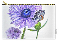 Erika's Butterfly Three Carry-all Pouch by Clyde J Kell