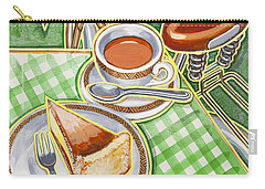 Eroica Britannia Bakewell Pudding And Cup Of Tea On Green Carry-all Pouch