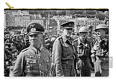 Erwin Rommel And Captured British Soldiers Tobruck Libya 1942 Color Added 2016  Carry-all Pouch