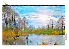 Escape By The Lake Carry-all Pouch by Wayne Pascall