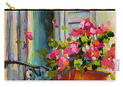 Carry-all Pouch featuring the painting Escape To France by Chris Brandley