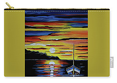 Escape To The Sea Carry-all Pouch by Kathleen Sartoris