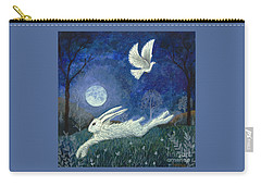 Carry-all Pouch featuring the painting Escape With A Blessing by Lise Winne