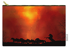 Escaping The Inferno Carry-all Pouch by Diane Schuster
