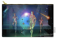 Carry-all Pouch featuring the digital art Escaping The  Matrix by Shadowlea Is