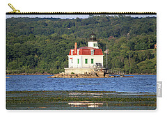 Carry-all Pouch featuring the photograph Esopus Lighthouse In Summer #4 by Jeff Severson