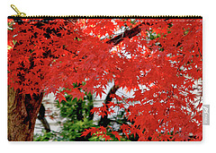 Essence Of Japanese Maple Tree Carry-all Pouch by Carol F Austin