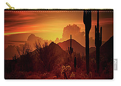 Carry-all Pouch featuring the photograph Essence Of The Southwest - Square  by Saija Lehtonen