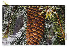 Carry-all Pouch featuring the photograph Essence Of Winter  by Bruce Carpenter