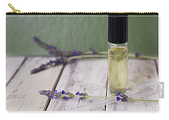 Carry-all Pouch featuring the photograph Essential Oil And Lavender by Cindy Garber Iverson