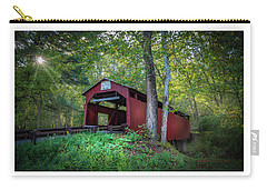 Carry-all Pouch featuring the photograph Esther Furnace Bridge by Marvin Spates