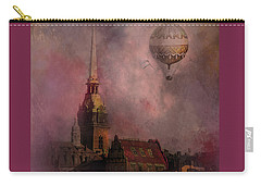 Stockholm Church With Flying Balloon Carry-all Pouch