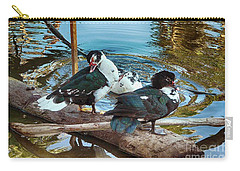 Estuary Ducks Carry-all Pouch by Gerhardt Isringhaus