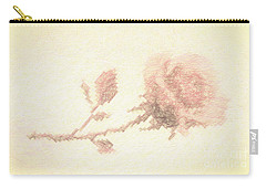 Carry-all Pouch featuring the photograph Etched Red Rose by Linda Phelps