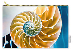 Eternal Golden Spiral Carry-all Pouch by Colleen Kammerer