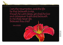 Carry-all Pouch featuring the photograph Eternal Life by Larry Bishop