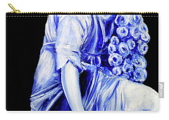Flower Girl In Blue Carry-all Pouch