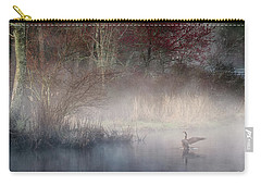 Carry-all Pouch featuring the photograph Ethereal Goose by Bill Wakeley