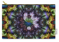 Carry-all Pouch featuring the digital art Ethereal Yin And Yang by Kiki Art