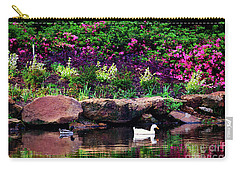 Ethreal Beauty At The Azalea Pond Carry-all Pouch by Tamyra Ayles