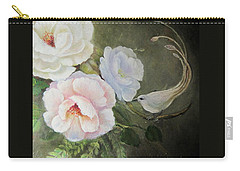 Etre Fleur  Carry-all Pouch by Patricia Schneider Mitchell