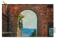 Carry-all Pouch featuring the photograph Etruscan Arch by Hanny Heim