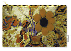 Carry-all Pouch featuring the painting Etrusian Vase With Flowers by Odilon Redon