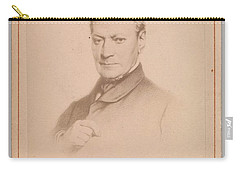 Carry-all Pouch featuring the painting Eugene Joseph Verboeckhoven  By Hector De Saedeler Belgian, Active 1860s by Artistic Panda