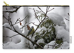 Eurasian Blue Tit In Winter Carry-all Pouch