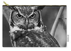 Eurasian Eagle Owl Monochrome Carry-all Pouch