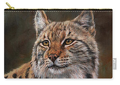 Eurasian Lynx Carry-all Pouch by David Stribbling
