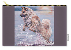 Carry-all Pouch featuring the painting Eurasier In The Sea by Lee Ann Shepard