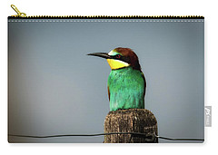 Carry-all Pouch featuring the photograph European Bee Eater by Wolfgang Vogt