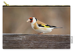 Carry-all Pouch featuring the photograph European Goldfinch In Kenosha by Ricky L Jones
