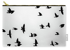 European Jackdaws Silhouette Carry-all Pouch