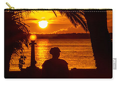 Carry-all Pouch featuring the photograph Eustis Sunset by Christopher Holmes