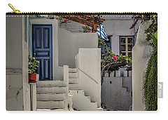 Carry-all Pouch featuring the photograph Eva's Garden Cafe Mykonos by Tom Prendergast