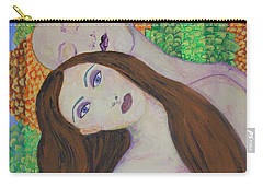 Carry-all Pouch featuring the painting Eve Emerges by Kim Nelson