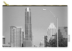 Even In #blackandwhite, The #skyline Of Carry-all Pouch by Austin Tuxedo Cat