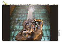 Carry-all Pouch featuring the photograph Even Statutes Spit by Lora Lee Chapman