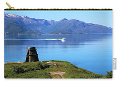 Evenes, Fjord In The North Of Norway Carry-all Pouch by Tamara Sushko