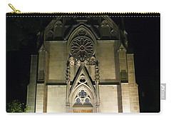 Carry-all Pouch featuring the photograph Evening At Loretto Chapel Santa Fe by Kurt Van Wagner