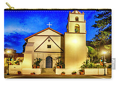 Evening At Mission San Buenaventura Carry-all Pouch