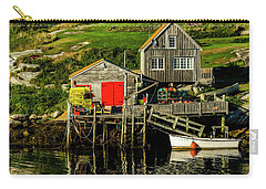 Evening At Peggys Cove Carry-all Pouch by Ken Morris