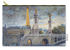 Evening At Pont Du Alexandre, Paris Carry-all Pouch