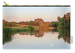 Carry-all Pouch featuring the photograph Evening At The Lake by David Chandler
