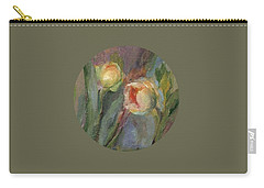 Carry-all Pouch featuring the painting Evening Bloom by Mary Wolf